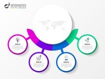Infographic设计模板 与4步的创造性的概念 向量例证