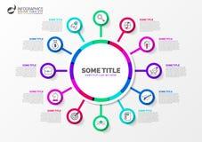 Infographic设计模板 与12步的创造性的概念 向量例证