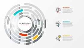 Infographic设计模板 与3步的创造性的概念 向量例证