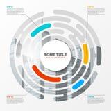 Infographic设计模板 与4步的创造性的概念 皇族释放例证