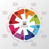 Infographic设计模板 工商界 也corel凹道例证向量 免版税库存图片