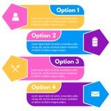 infographic设计的四个元素与象的 免版税图库摄影