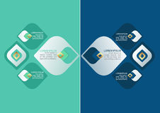 Infographic设计的泰国装饰样式元素 图库摄影