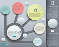 Infographic设计题材蓝色的传染媒介元素的介绍 免版税图库摄影