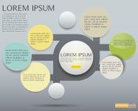 Infographic设计题材黄色的,介绍传染媒介元素 库存照片