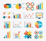 Infographic集合图表和图,图 图库摄影