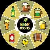 Infographic食物icons_beer酒精 库存照片