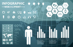 infographic高质量的商业 库存图片