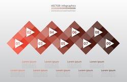Infographic étape-par-étape Images stock