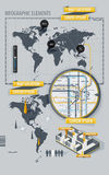 infographic översiktsvärld för element Arkivfoto