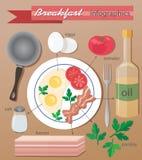 Infographic śniadanie Zdjęcia Stock