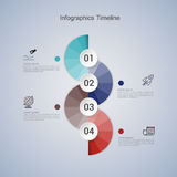 Infographic βήμα επιχειρησιακής έννοιας σε επιτυχή Στοκ φωτογραφία με δικαίωμα ελεύθερης χρήσης