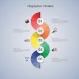 Infographic βήμα επιχειρησιακής έννοιας σε επιτυχή Στοκ εικόνα με δικαίωμα ελεύθερης χρήσης