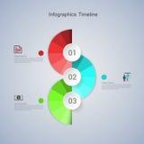 Infographic βήμα επιχειρησιακής έννοιας σε επιτυχή Στοκ Εικόνες