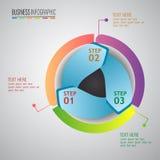 Infographic βαθμιαία πρότυπο σχεδίου recicle Στοκ Φωτογραφίες