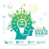 Infographic διάνυσμα σχεδίου έννοιας περιβάλλοντος Στοκ φωτογραφία με δικαίωμα ελεύθερης χρήσης