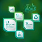 Infographic διάνυσμα σχεδίου έννοιας περιβάλλοντος Στοκ Εικόνα
