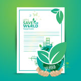 Infographic διάνυσμα σχεδίου έννοιας περιβάλλοντος Στοκ Φωτογραφίες