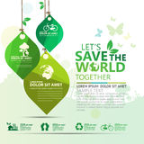 Infographic διάνυσμα σχεδίου έννοιας περιβάλλοντος Στοκ εικόνα με δικαίωμα ελεύθερης χρήσης