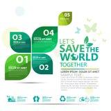Infographic διάνυσμα σχεδίου έννοιας περιβάλλοντος Στοκ εικόνες με δικαίωμα ελεύθερης χρήσης