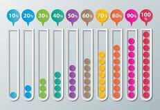 Infographic διαγράμματα εγγράφου Στοκ φωτογραφία με δικαίωμα ελεύθερης χρήσης