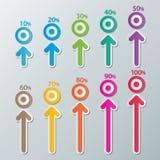 Infographic διαγράμματα εγγράφου Στοκ εικόνα με δικαίωμα ελεύθερης χρήσης