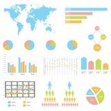 Infographic διανυσματική απεικόνιση λεπτομέρειας. Παγκόσμιος χάρτης και γραφική παράσταση πληροφοριών Στοκ εικόνες με δικαίωμα ελεύθερης χρήσης