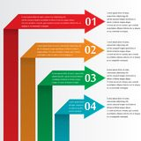 Infographic με τα βέλη Στοκ Εικόνες