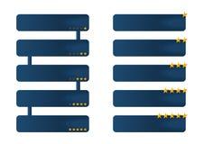Infographic με τα εκτιμημένα αστέρια Στοκ εικόνα με δικαίωμα ελεύθερης χρήσης