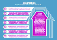 Infographic με την οικοδόμηση του σπιτιού Στοκ Εικόνα