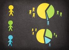 Infographic με τους έγχρωμους ανθρώπους εγγράφου Στοκ Φωτογραφία