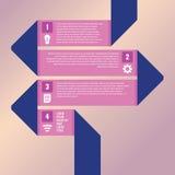 Infographic με το δίπλωμα της κορδέλλας Στοκ Φωτογραφία