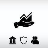 Infographic με το χέρι, εικονίδιο διαγραμμάτων, διανυσματική απεικόνιση Επίπεδο de Στοκ φωτογραφίες με δικαίωμα ελεύθερης χρήσης