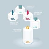 Infographic πρότυπο γεωμετρικού σχεδίου με τα εικονίδια Στοκ Φωτογραφίες