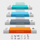 Infographic πρότυπο επιχειρησιακής έννοιας Στοκ Φωτογραφία