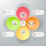 Infographic πρότυπο επιχειρησιακής έννοιας, Στοκ Φωτογραφία