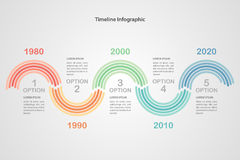 Infographic πρότυπο επιχειρησιακής υπόδειξης ως προς το χρόνο διάνυσμα Στοκ φωτογραφίες με δικαίωμα ελεύθερης χρήσης