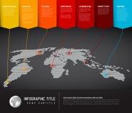 Infographic πρότυπο παγκόσμιων χαρτών Στοκ εικόνα με δικαίωμα ελεύθερης χρήσης