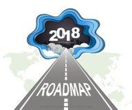 Infographic πρότυπο σχεδίου υπόδειξης ως προς το χρόνο Roadmap διανυσματική απεικόνιση