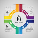 Infographic πρότυπο σύγχρονου σχεδίου απεικόνιση Στοκ Εικόνα