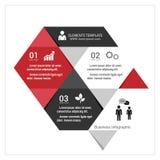 Infographic πρότυπο σύγχρονου σχεδίου απεικόνιση Στοκ Εικόνες