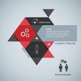 Infographic πρότυπο σύγχρονου σχεδίου απεικόνιση Στοκ εικόνες με δικαίωμα ελεύθερης χρήσης