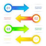 Infographic πρότυπο ύφους σύγχρονου σχεδίου ελάχιστο Στοκ Εικόνα