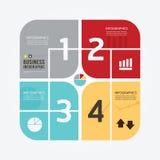 Infographic πρότυπο ύφους σύγχρονου σχεδίου ελάχιστο Στοκ Εικόνες