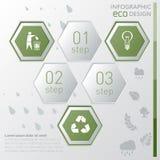 Infographic πρότυπο Eco Στοκ εικόνα με δικαίωμα ελεύθερης χρήσης