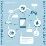 Infographic στοιχεία επικοινωνίας Στοκ φωτογραφία με δικαίωμα ελεύθερης χρήσης