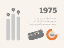 Infographic στοιχεία τροφίμων Στοκ φωτογραφία με δικαίωμα ελεύθερης χρήσης