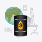 Infographic σχέδιο πετρελαίου και βιομηχανίας πετρελαίου Στοκ Εικόνα