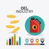 Infographic σχέδιο πετρελαίου και βιομηχανίας πετρελαίου Στοκ εικόνες με δικαίωμα ελεύθερης χρήσης