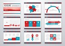 infographic σύνολο στοιχείων Διανυσματική απεικόνιση